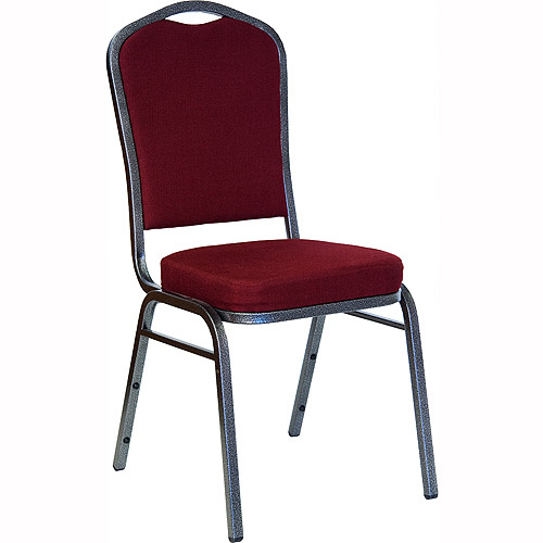 4 pack - crown back stacking banquet chair with silvervein frame