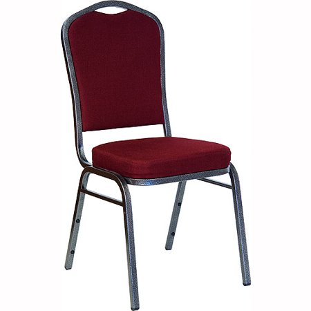 Generic Crown Back Stacking Banquet Chair Silvervein Frame Pack