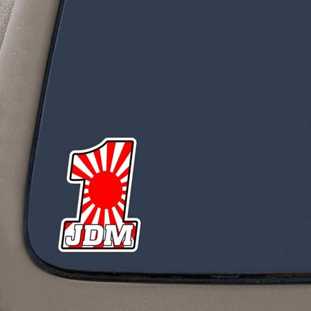 1 Jdm Decal Sticker   4 Inches By 3 Inches   Premium Quality 6 Mil Vinyl Decal Sticker   Car Truck Van Suv Laptop Macbook Wall Decals