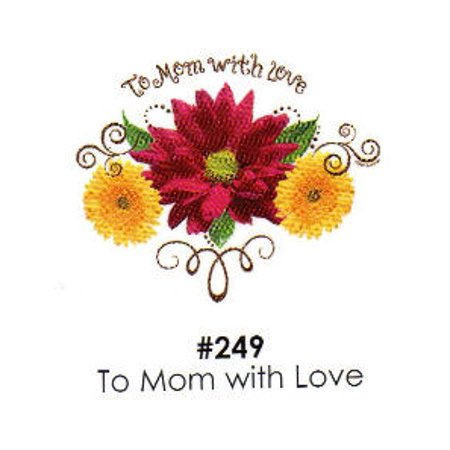 To Mom with Love Cake Decoration Edible Frosting Photo Sheet