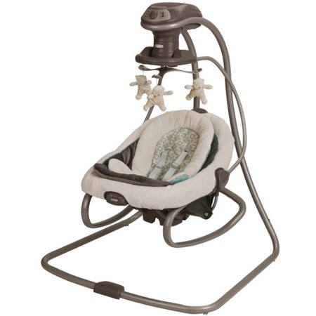 Graco DuetSoothe Baby Swing and Rocker, Winslet (Best Swing Bouncer Combo)