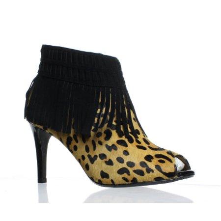 J Renee Peep Toe Heels (J. Renee Womens Saharra Brown/Black Peep Toe Heels Size 7 (C,D,W))