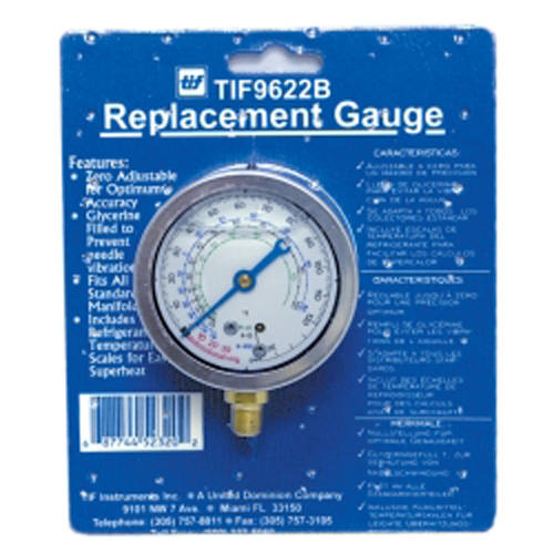 TIF Instruments 9622B Low Side R12 and R22 Auto Glycerine Refrigerant Gauge