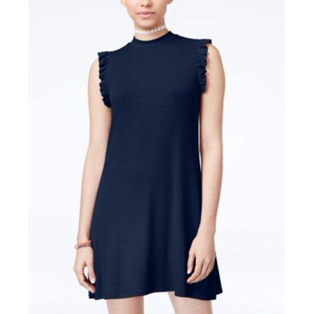 One Clothing Juniors' Ribbed Ruffled Dress XL One Clothing Juniors' Ribbed Ruffled Dress Juniors Juniors' Clothing - DressesSize: XlColor: Navy