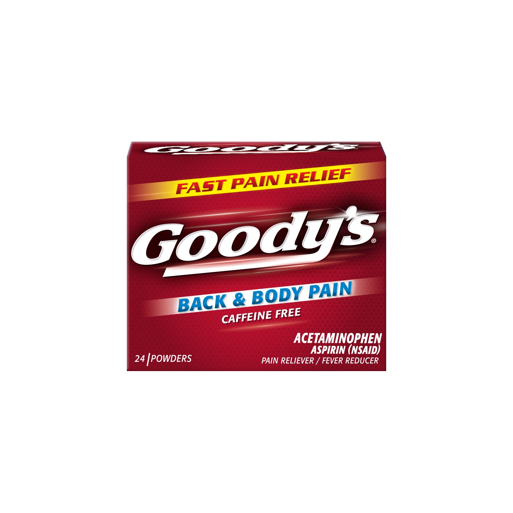 Goody's Back & Body Pain Acetaminophen Aspirin Pain Reliever/Fever Reducer Powders, 24 ct
