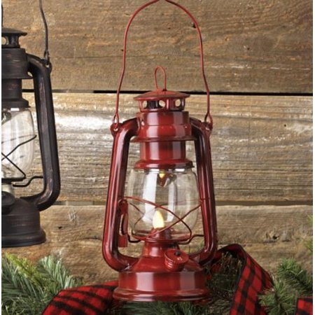 Shake Flame Battery Operated Red Vintage Style Led Lantern 9 5 Inchred