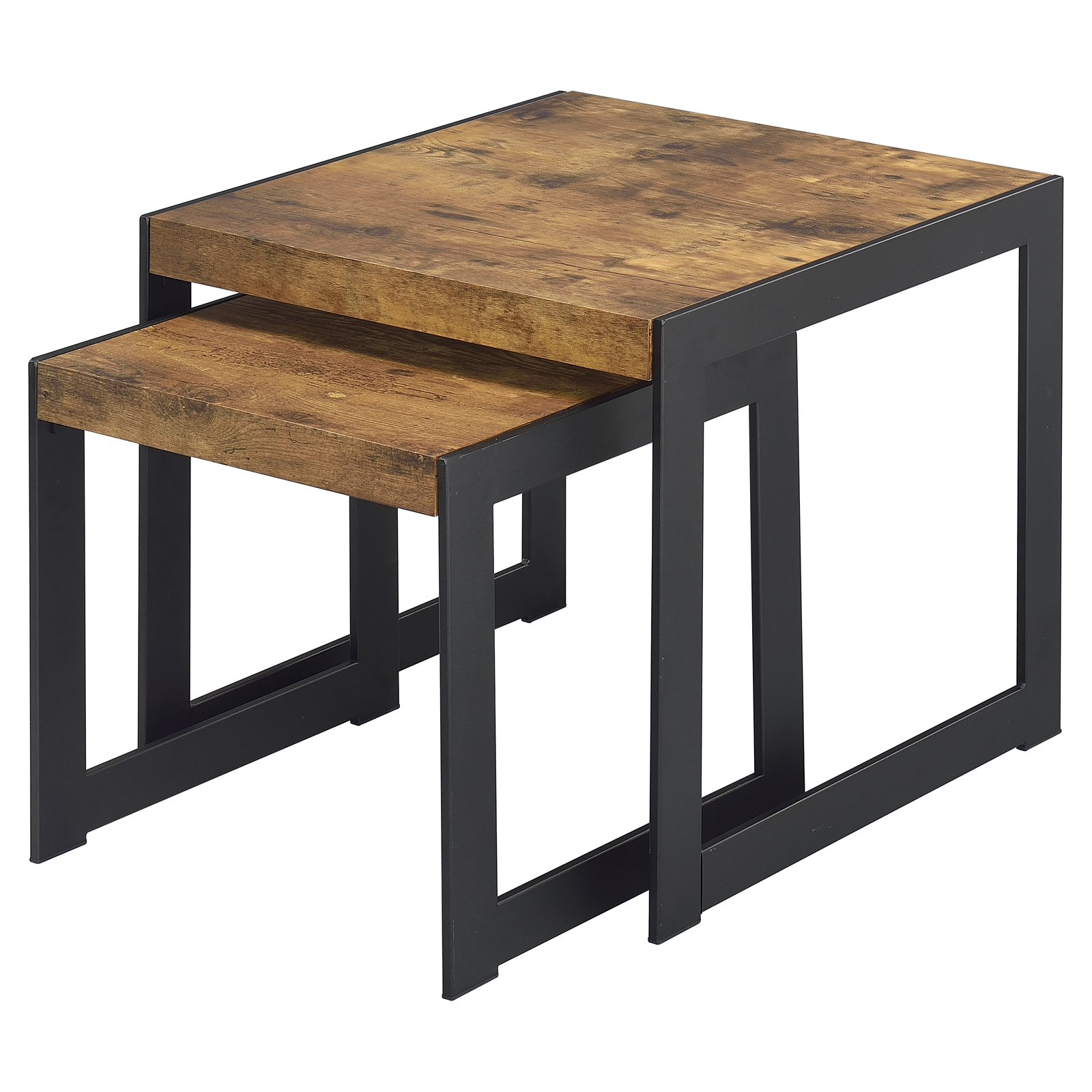 Fox Hill Trading Millenial Industrial Nesting Side Tables - Set of 2