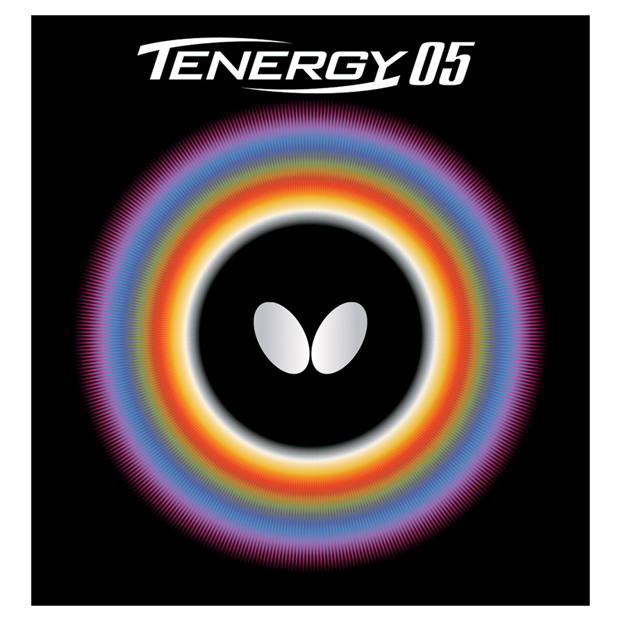 Butterfly Tenergy 05 Table Tennis Rubber, 1.9 mm, Black