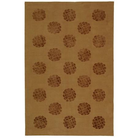 Martha Stewart  by  Medallions Cocoa Silk/ Wool Rug - 7'9