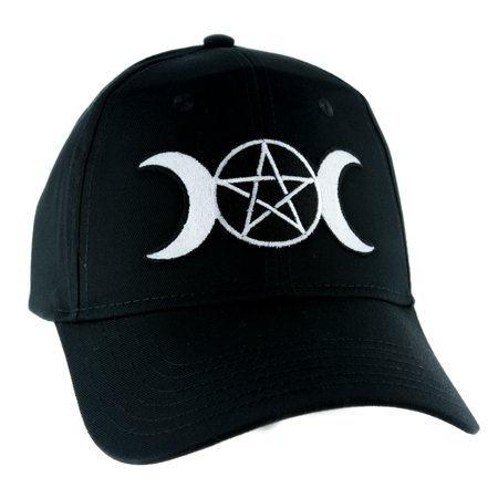Witchcraft Clothes (Triple Goddess Wicca Moon Pentagram Hat Baseball Cap Alternative Pagan Clothing)