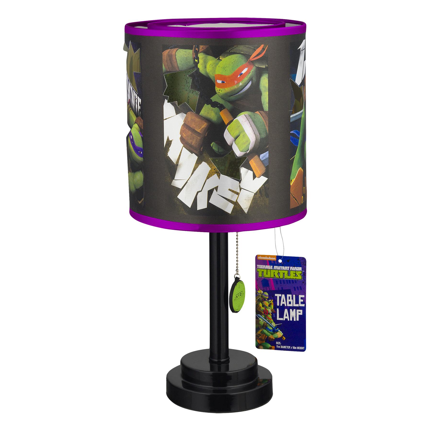 Teenage Mutant Ninja Turtles Table Lamp, 1.0 CT