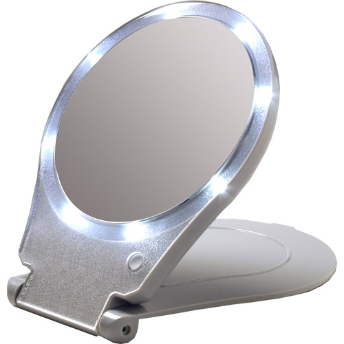 Floxite 10x LED Lighted Travel and Home Mirror