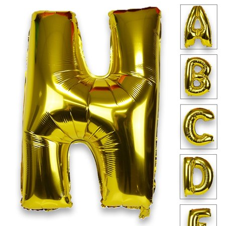 Just Artifacts Glossy Gold (30-inch) Decorative Floating Foil Mylar Balloons - Letter: N - Letter and Number Balloons for any Name or Number Combination! - Balloon With Name On It