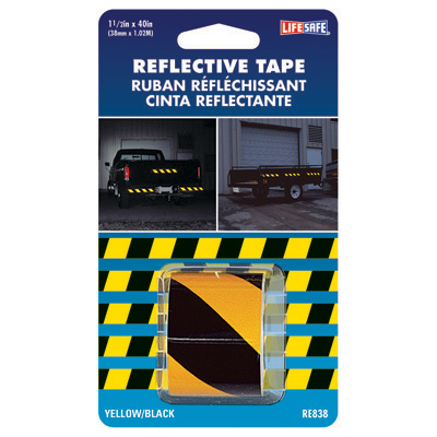 Incom Manufacturing RE838 Yellow/Black Reflective Strips