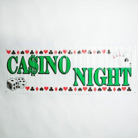 CASINO NIGHT BANNER 5FT X 21IN](Casino Night Decorations Ideas)