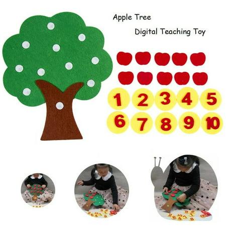 Felt Cloth DIY Children's Educational Toys Preschool Supplies Set of Apple Trees (Educational Children's Toys)