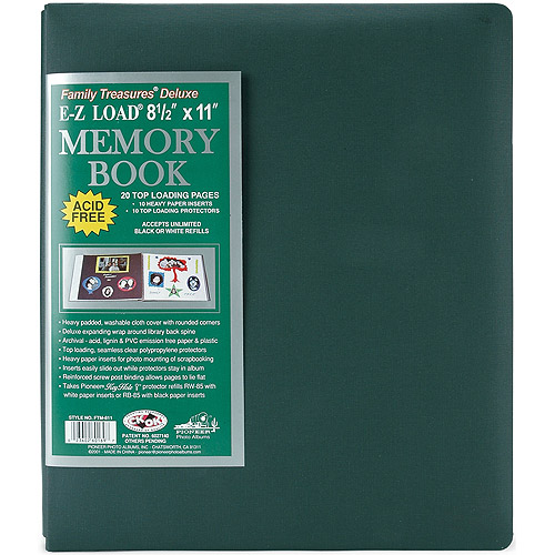 Pioneer 8-1//2-Inch by 11-Inch Family Treasures Deluxe Fabric Postbound Album,#41