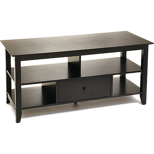 """American Heritage Black TV Stand, for TVs up to 46"""""""