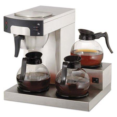 Original Gourmet Food CPRLG Three-Burner Low Profile Institutional Coffee Maker, Stainless Steel - 36
