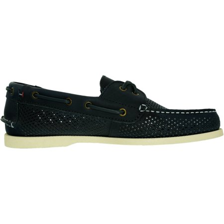 a6fdcff37bce Tommy Hilfiger Men s Bowman 3 Leather Dark Blue Ankle-High Leather Loafer -  11M ...