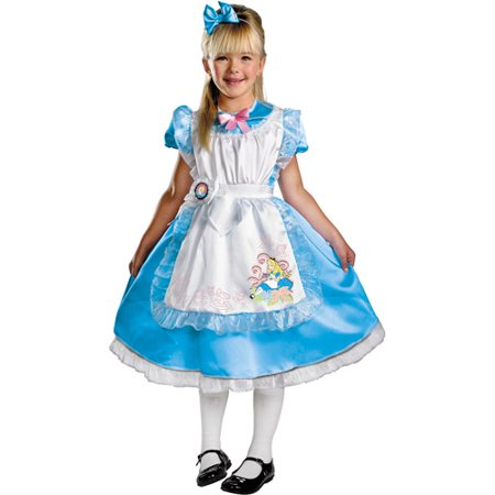 Alice in Wonderland Deluxe Child Halloween Costume - Alice In Wonderland Child Halloween Costumes