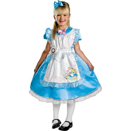 Alice Deluxe Toddler Halloween Costume - Alice In Wonderland ()