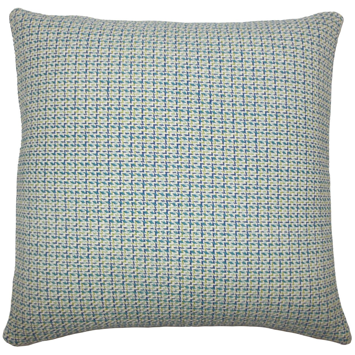 The Pillow Collection Paley Plaid 22-inch Down Feather Throw Pillow Blue Green