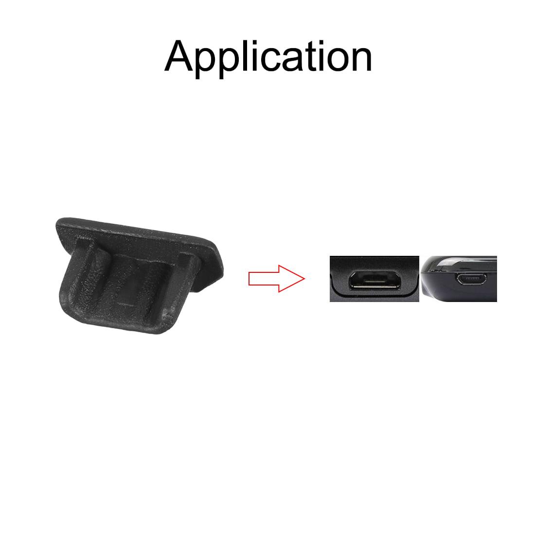 Silicone Micro USB Anti-Dust Stopper Cap Cover Black 20pcs - image 1 of 4