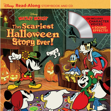 Disney Mickey Mouse: The Scariest Halloween Story Ever! Read-Along Storybook and CD for $<!---->