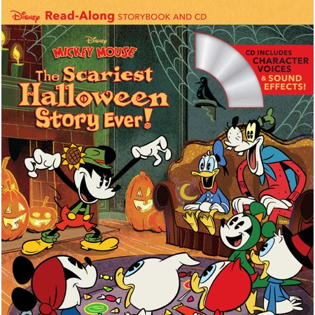 Disney Mickey Mouse: The Scariest Halloween Story Ever! [With Audio CD] (Paperback) - Halloween Retail