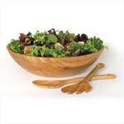 Lipper 8204-3 Bamboo Bowl w/Pair of Servers