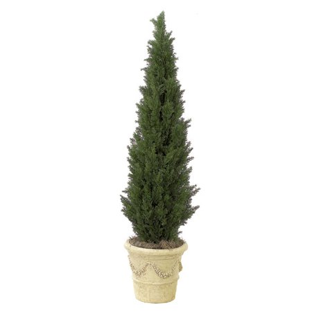 Northlight Artificial Outdoor Landscaping Cedar Pine Tree Topiary 5' - Green ()