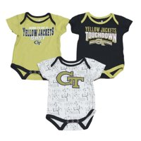 "Georgia Tech Yellowjackets NCAA ""Playmaker"" Infant 3 Pack Bodysuit Creeper Set"