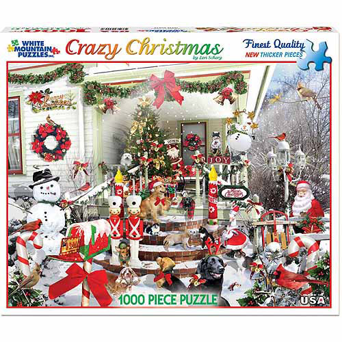 White Mountain Puzzles 1000-Piece Jigsaw Puzzle, Crazy Christmas