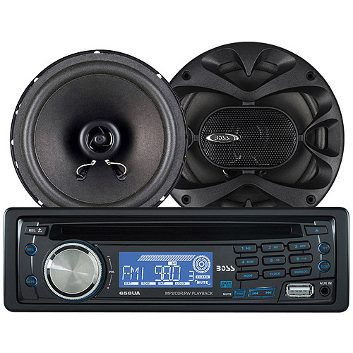 Boss Audio 658CK - CD/MP3 Receiver/Speaker Package System Bundle