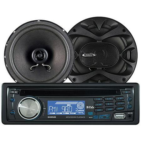 Boss Audio 658CK - CD/MP3 Receiver/Speaker Package System Bundle