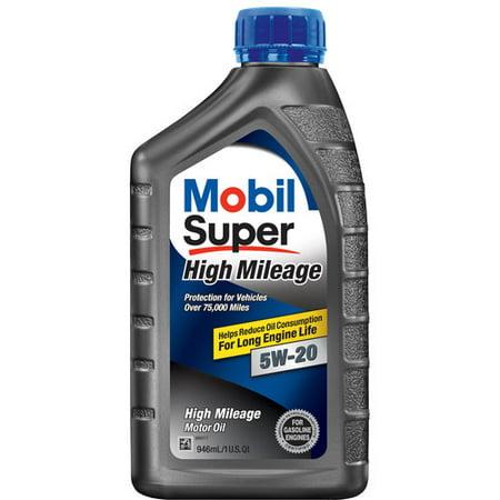 Mobil Super 5w 20 High Mileage Motor Oil 1 Qt