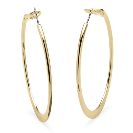 Hoop Earrings in 18k Gold-Plated with Surgical Steel Posts 2