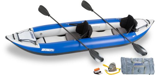 Sea Eagle 380X Explorer Inflatable Kayak Pro Carbon Package by Sea Eagle Boats, Inc.