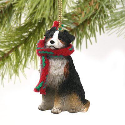 Conversation Concepts Australian Shepherd Tricolor w/Docked Tail Original Ornament Australian Shepherd Christmas Ornament