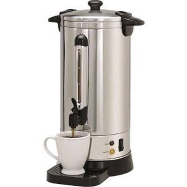 METAL WARE - NESCO CU-50 50 CUP STAINLESS STEEL DOUBLE WALL COFFEE URN LOCKING LID