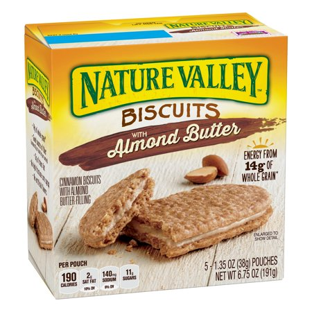 Nature Valley Almond Butter Breakfast Biscuits with Nut Filling 5 Bars
