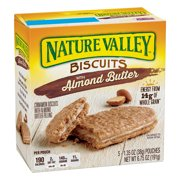 Nature Valley Breakfast Biscuits, Almond Butter, 5 Pack