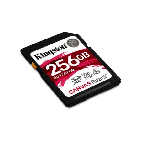 256GB SDXC Canvas React 100R/80W CL10 UHS-I U3 V30