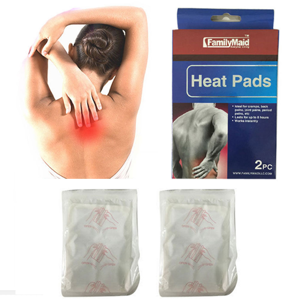 2pc Heating Heat Pad Arthritis Joint Back Neck Pain Relief Pack Air Activated