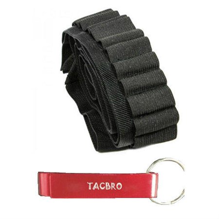 TACBRO Rifle Shell Bandolier 65 Round with One Free TACBRO Aluminum Opener(Randomly Selected Color)](Tequila Bandolier)