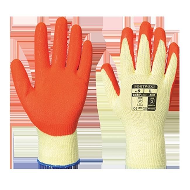 Portwest A100 Extra Large Grip Glove, Orange - Regular