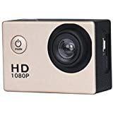 Boyiya 1080P HD Mini Waterproof Sports Recorder Car DV Action Camera Camcorder (Gold)