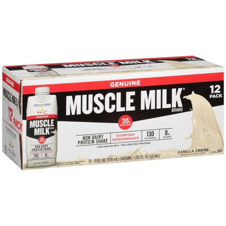 Muscle Milk® Vanilla Crème Non Dairy Protein Shake 12-11 fl. oz. (Free Shades)