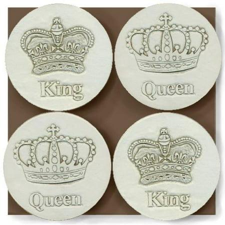 King Queen Crown Coasters Walmartcom
